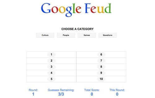 Distraction of the Day: Someone Turned Google Autocomplete Into a Family Feud-Style Game