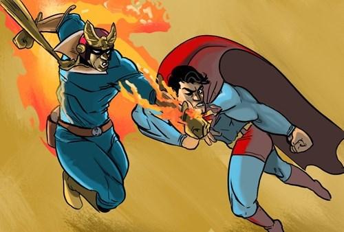 fan art,superman,captain falcon