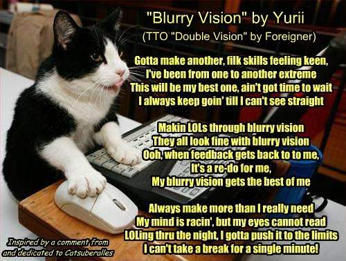 """""""Blurry Vision"""" by Yurii  (TTO """"Double Vision"""" by Foreigner)"""