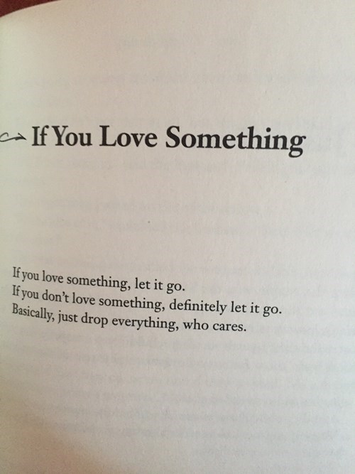 What Do You Do If You Love Something