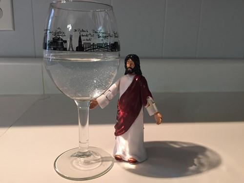 wine turns into water? dammit jesus