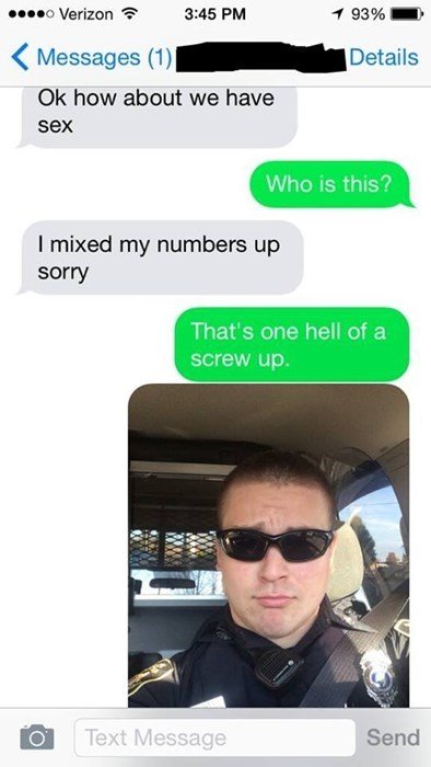 Probably Best if You Don't Sext the Police
