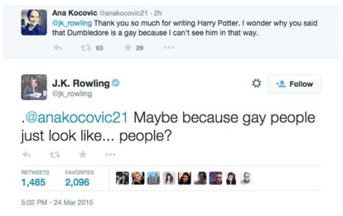 Tweet of the Day: J.K. Rowling's Perfect Response to a Question About Dumbledore's Sexuality