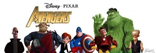 cartoon memes pixar avengers