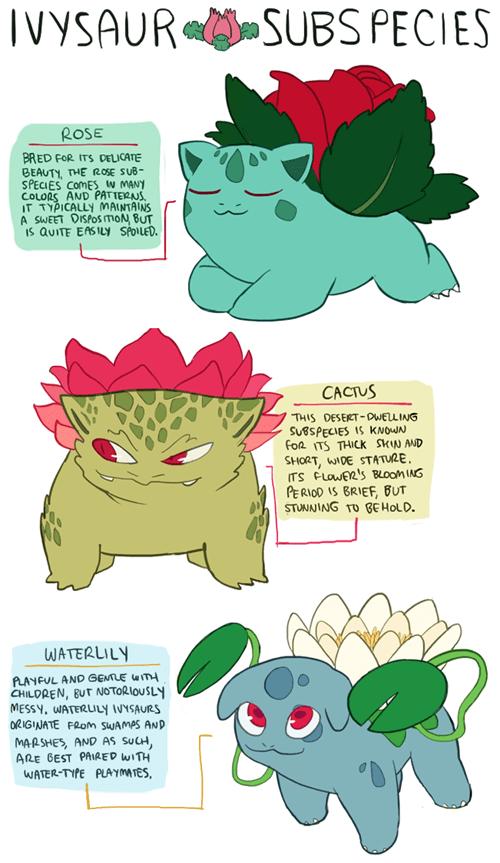 Some Seriously Kawaii Ivysaur Variations