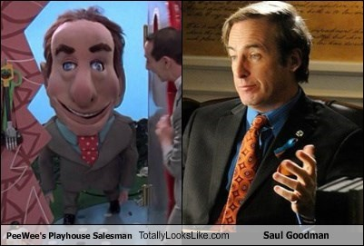 PeeWee's Playhouse Salesman Totally Looks Like Saul Goodman