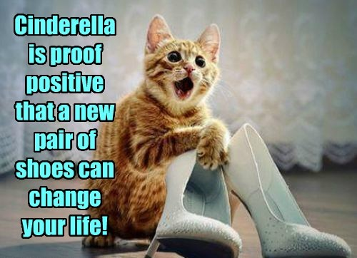 Cinderella is proof positive that a new pair of shoes can change your life!