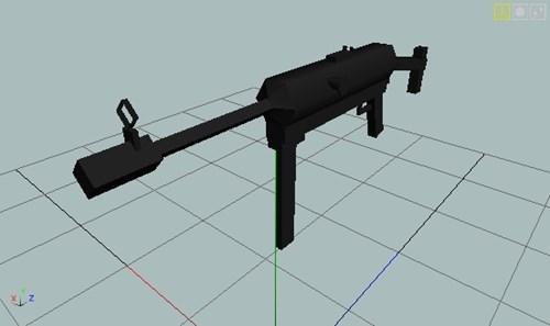 MP-40 Rough model (3D model making test)