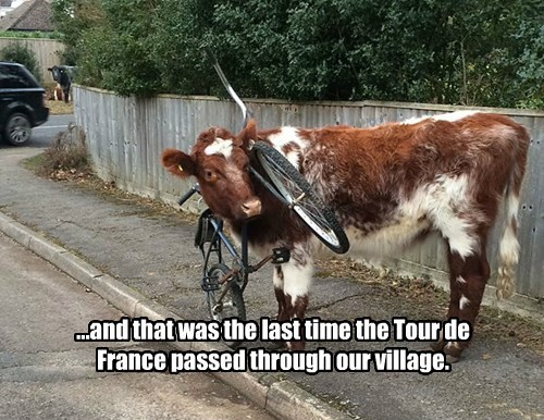 ...and that was the last time the Tour de France passed through our village.