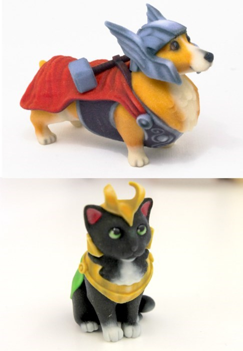 superheroes-thor-marvel-loki-corgi-cat-statues-cute