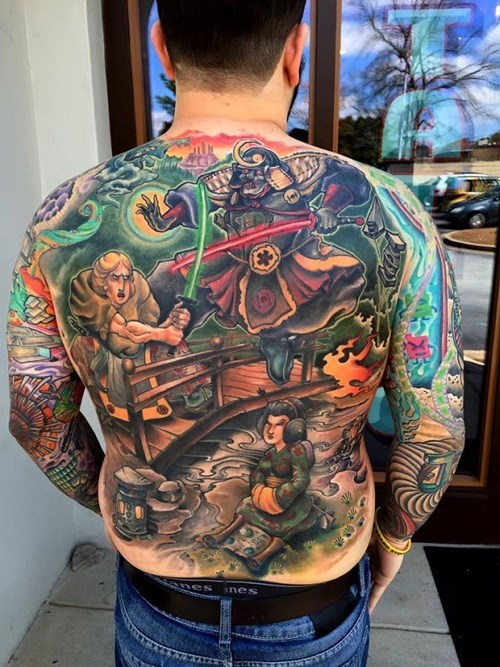 Star Wars Has Samurai Movie Roots, and This Guy Got a Tattoo to Show it All Off