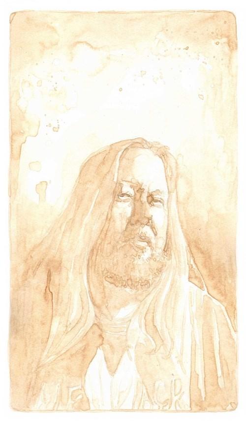 phineas x. jones portrait made from beer