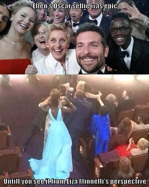 Ellen's Oscar selfie was epic  Untill you see it from Liza Minnelli's perspective