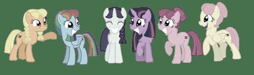 Smiling, Happy Ponies