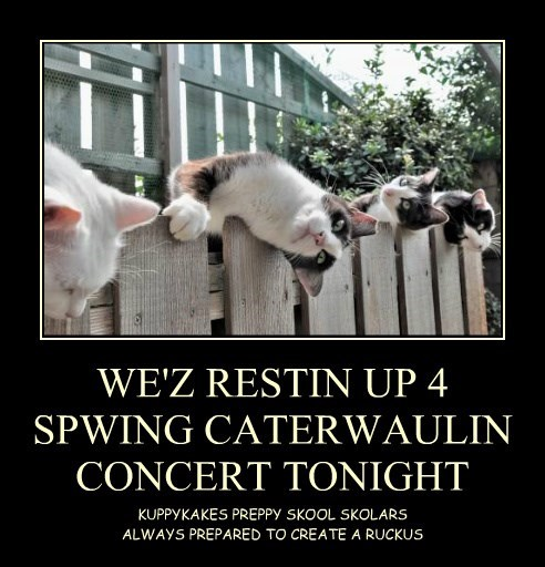 WE'Z RESTIN UP 4  SPWING CATERWAULIN CONCERT TONIGHT