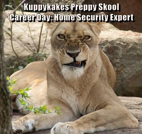 Kuppykakes Preppy Skool                                    Career Day: Home Security Expert