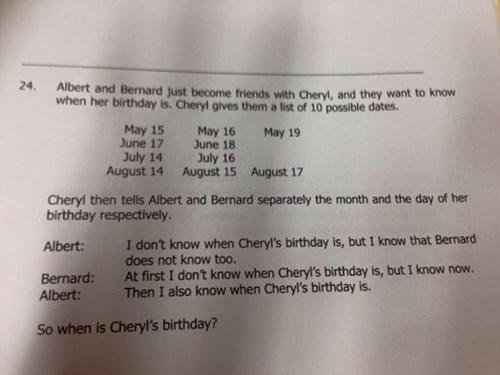 cheryl's birthday logic problem