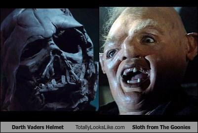 Darth Vaders Helmet Totally Looks Like Sloth from The Goonies