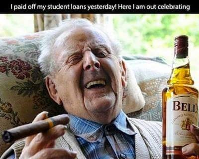try to pay off your student loans within a hundred years