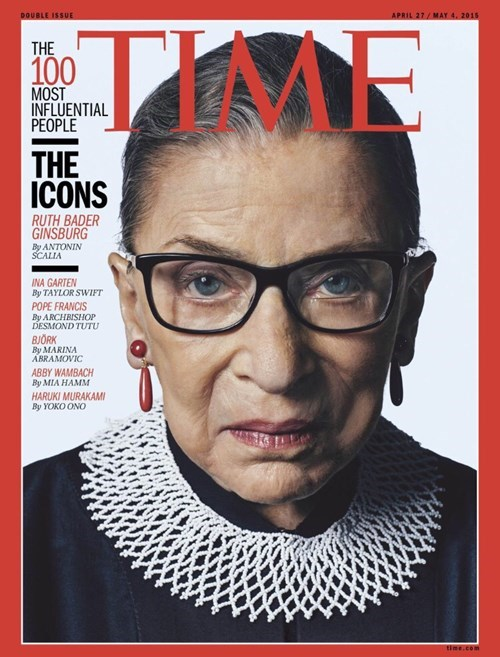 time,100 most infulential,ruth bader ginsburg