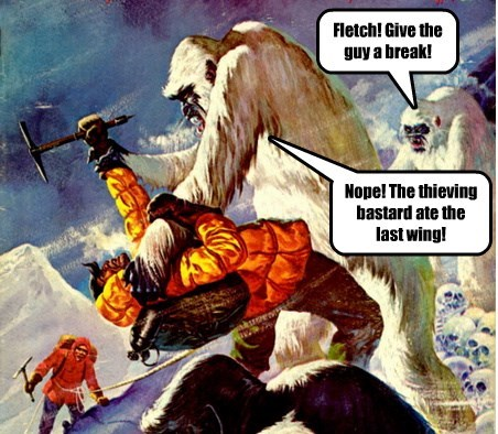 Fletch! Give the guy a break!