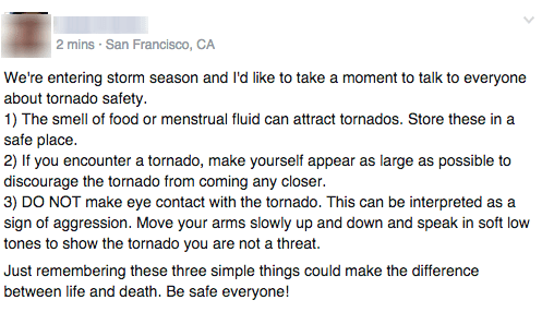 How to Stay Safe During a Tornado