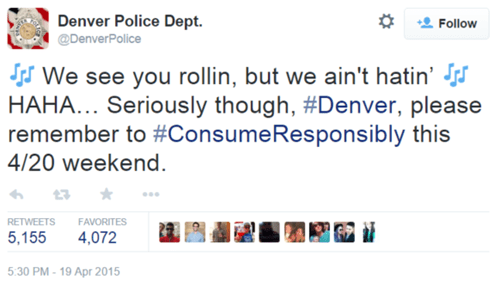 The Denver Police in Pot-Legal Colorado Had a Special 4/20 Message for Everyone