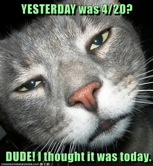 YESTERDAY was 4/20?  DUDE! I thought it was today.