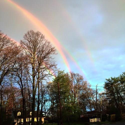 Quaruple rainbow spotted off Long Island
