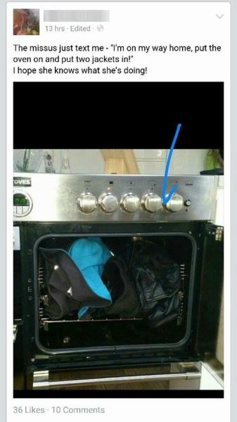 funny-facebook-fail-wife-husband-oven-jacket