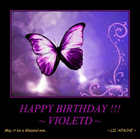 HAPPY BIRTHDAY !!! ~ VIOLETD ~