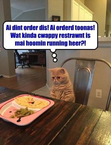 And wherz mai milk and napkins?
