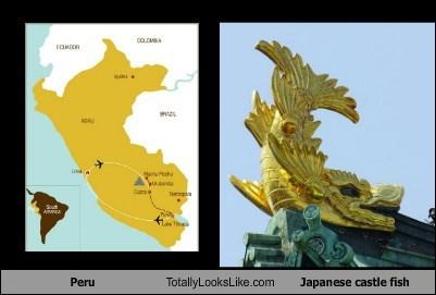 Peru Totally Looks Like Japanese castle fish