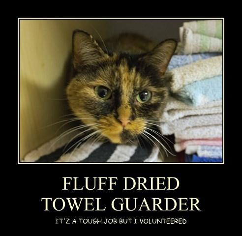FLUFF DRIED  TOWEL GUARDER