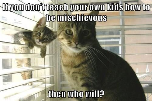 If you don't teach your own kids how to be mischievous   then who will?