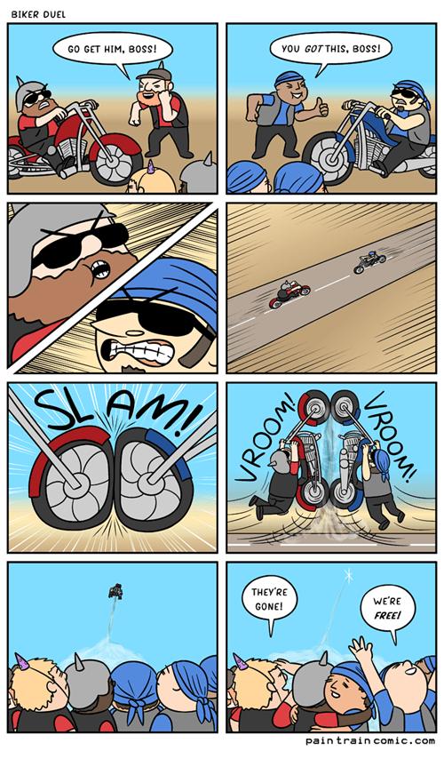 funny-web-comics-biker-duel