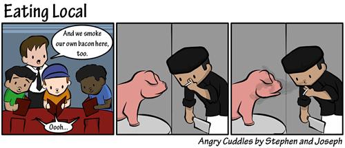 portland,pig,food,bacon,web comics