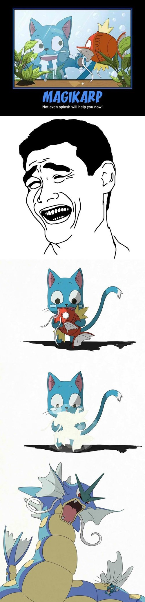 pokemon memes happy fairy tail gyrados magikarp