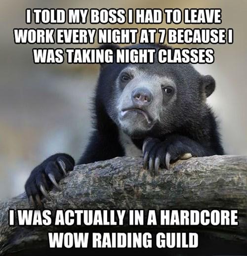 I Was Taking Advanced Raiding