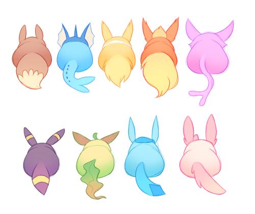 Eeveelution Butts