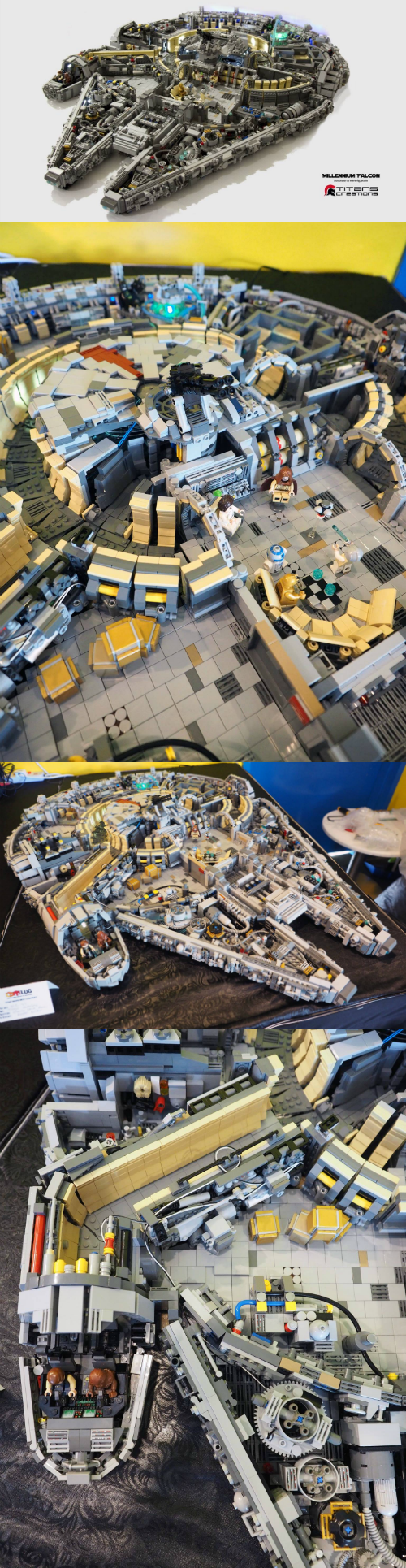 This LEGO Millennium Falcon is Made of More Than 10,000 Pieces
