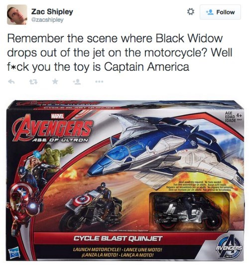 Marvel/Disney Goes The Extra Mile To Cut Women Out of Toys