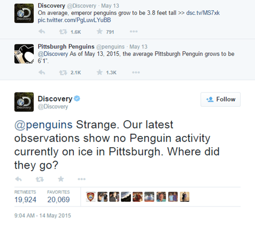 Discovery Channel Twitter Spittin' Hot Fire
