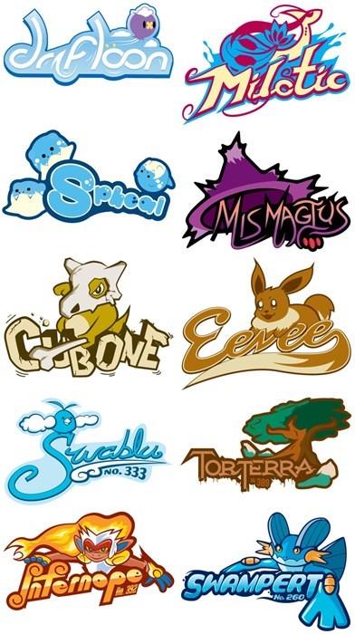 Pokémon Typefaces
