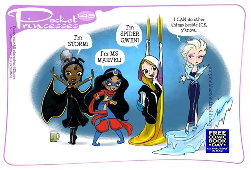 The Disney Princesses Love Free Comic Book Day
