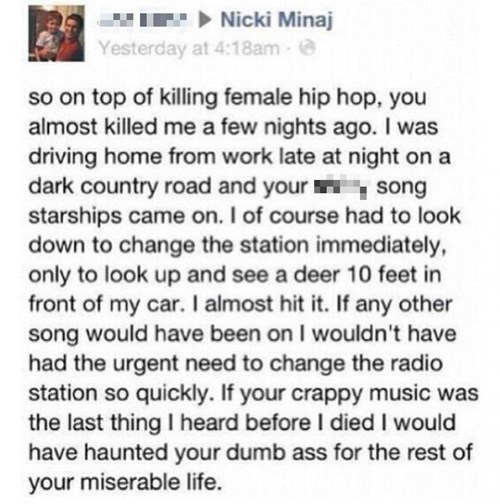 That Time Nicki Minaj Ruined a Dude's Car Insurance Payments
