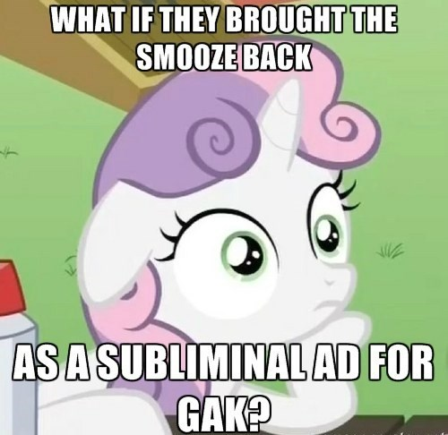 gak,Sweetie Belle,smooze