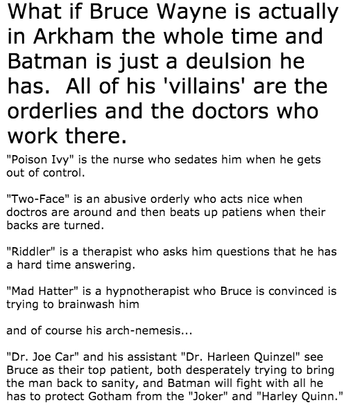 What If There Really is no Batman?