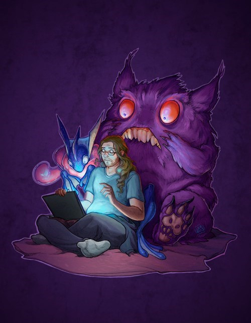 Greninja and Gengar discover the internet