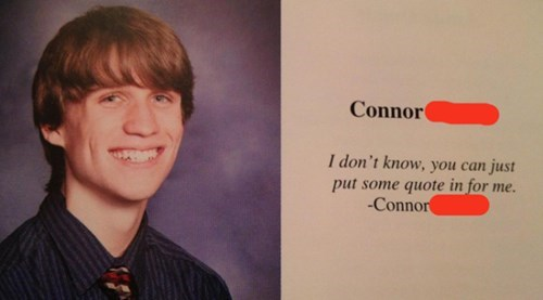 school yearbook quote The Yearbook Editor Is a Literalist